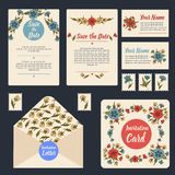 Wedding Invitation Stationary Set Royalty Free Stock Images