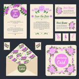 Wedding Invitation Stationary Set Stock Photography