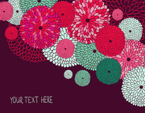 Wedding invitation. Stylish floral background. Royalty Free Stock Photo
