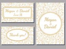 Wedding invitation swirl cards Stock Photo