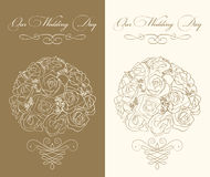 Wedding invitation template. With color variation Stock Photography