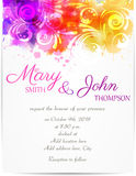 Wedding invitation template with abstract florals Stock Image