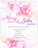 Wedding invitation template with abstract florals Stock Photo