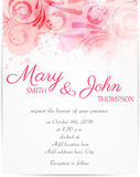 Wedding invitation template with abstract florals Stock Images