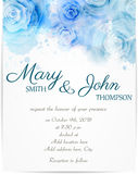 Wedding invitation template with abstract roses Stock Photography