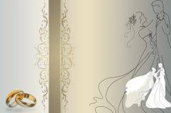 Wedding invitation template. Stock Photos