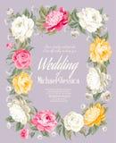 Wedding invitation template Stock Photo