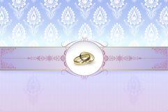 Wedding invitation template. Royalty Free Stock Photography