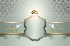 Wedding invitation template. Royalty Free Stock Photography