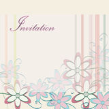 Wedding Invitation Template. Party Card Design with Flowers Royalty Free Stock Images