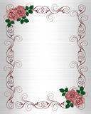 Wedding Invitation Template Red Roses Stock Image