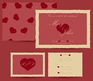 Wedding invitation template. Retro effect Royalty Free Stock Images