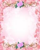 Wedding Invitation Template Roses Royalty Free Stock Photos