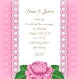Wedding invitation template royalty free illustration