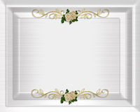 Wedding invitation template satin Stock Photos