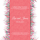 Wedding invitation template. Save the date Stock Image