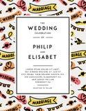 Wedding Invitation template Stock Image