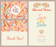 Wedding invitation templates set Stock Photography