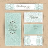Wedding invitation, thank you card, save the date cards. RSVP card Royalty Free Stock Image
