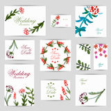 Wedding invitation, thank you card, save the date cards. RSVP card. Vector illustration for your design Royalty Free Stock Photo