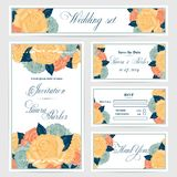 Wedding invitation, thank you card, save the date Stock Photography