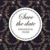 Wedding invitation, thank you card, save the date cards. stock illustration
