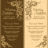 Wedding invitation in turkish style, brown orange Royalty Free Stock Images