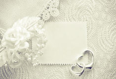 Wedding invitation, valentine day concept, monochrome card Stock Image