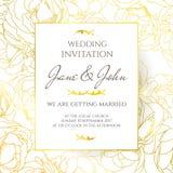 Wedding invitation vector design template.  Royalty Free Stock Photos