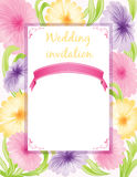 Wedding invitation Stock Photography