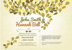 Wedding invitation. And vector template Royalty Free Stock Photos