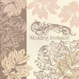 Wedding invitation with vintage flourishes Stock Photos