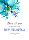 Wedding invitation watercolor Royalty Free Stock Photography