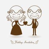 Wedding invitation on white background Stock Photography