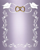 Wedding Invitation white doves Royalty Free Stock Photo