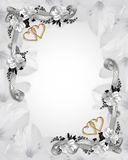 Wedding invitation white magnolias stock images