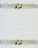 Wedding invitation White roses Royalty Free Stock Photos