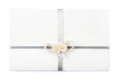 Wedding invitation. White wedding invitation, on white background Royalty Free Stock Image