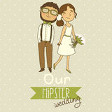 Wedding Invitation With A Cute Couple Stock Image