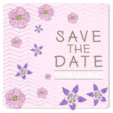 Wedding invitational card Royalty Free Stock Photos