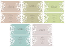 Wedding invitations Royalty Free Stock Photography