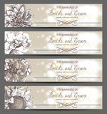 Wedding invitations Royalty Free Stock Images