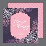 Wedding invitations card stock illustration