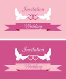 Wedding invitations. Covers for wedding invitation cards Royalty Free Stock Photo