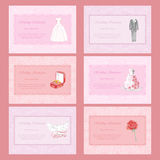 Wedding Invitations Set with  hand drawn watercolor elements. Vector illustration for cards, posters, invitations, web design Royalty Free Stock Images