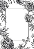 Wedding invitations templates cards with flowers peonies, roses. Royalty Free Stock Photo