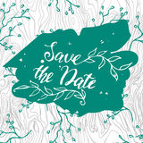 Wedding Invitations vector. Save the date wedding invitation template vector-illustration Stock Photography