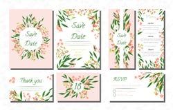 Wedding Invite with Eucalyptus. royalty free illustration