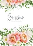 Wedding invite, invitation, greeting card, poster design. Garden vector illustration