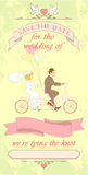 Wedding invited tandem01 Royalty Free Stock Image